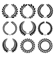 Set from black laurel wreath vector | Price: 1 Credit (USD $1)