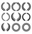 Set from black laurel wreath vector image vector image