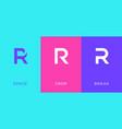 set letter r minimal logo icon design template vector image vector image