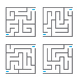 Set of mazes vector image vector image