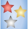 Set of three glowing stars vector image