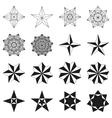 set stars geometric shapes vector image vector image