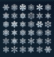 snowflakes silhouette winter snow symbol ice vector image