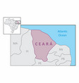 state of ceara map vector image vector image