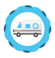 sticker ambulance emergency care life vector image