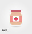 strawberry baby food smoothies fruit puree vector image