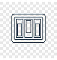 switch concept linear icon isolated on vector image
