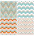 tile pattern set with zig zag background vector image