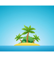 Tropical Island Nature Landscape vector image vector image