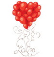 Valentine card - Heart made of balloons vector image vector image