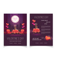 valentines day flyer for romantic dinner vector image