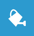 watering can icon white on the blue background vector image