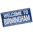 welcome to birmingham stamp vector image vector image