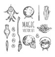 witchcraft wicca magic hand drawn collection vector image