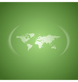 world map green vector image vector image