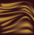 soft golden silky fabric silk waves background vector image