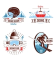 Skiing Emblems And Design Elements vector image