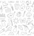 white pattern of garden accessories vector image