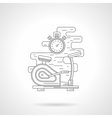 Exercise bike flat line icon vector image