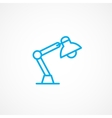 Reading lamp icon vector image