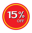 15 off discount price tag isolated