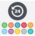 24 hours customer service clock support symbol