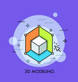 3d or three-dimensional modeling rendering vector image