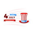 4th july with usa flag independence day banner vector image vector image