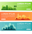 abstract stylish cityscape infographics vector image vector image