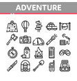 adventure collection elements icons set vector image vector image