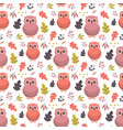 autumn pattern with owl vector image vector image