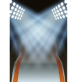 Background for posters night winter game stadium vector image vector image