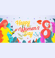 banner international happy womens day march 8 vector image