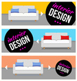 Banners with sofa set vector image