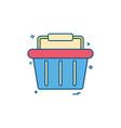 basket buy cart shop shopping shopping basket vector image vector image