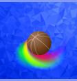 basketball orange ball icon sports equipment vector image vector image