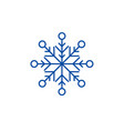 beautiful snowflake line icon concept beautiful vector image vector image