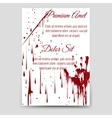 Bloody drops and handprint flyer template vector image vector image