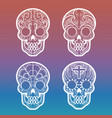 calavera skull on colorful background vector image