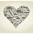 Car heart vector image vector image