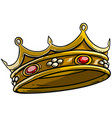 cartoon golden royal king crown vector image vector image