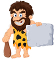 Caveman with stone tablet vector image