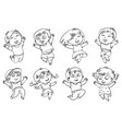 children jump for joy coloring book vector image