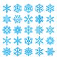 chirstmas snowflakes set vector image