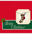 Christmas greeting card with socks vector image