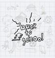 class and school scribbles vector image