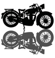 Classic motorcycle and a shadow vector image vector image