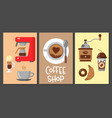 coffee design templates banners vector image vector image
