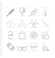 collection of medical themed icons vector image vector image