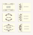 collection vintage business card vector image